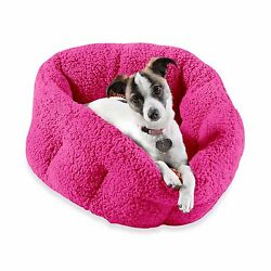 Orthopedic Indoor Outdoor Dog Cat Pet Warm Cozy House Plush Sherpa Comfort Bed