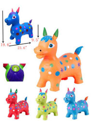 Inflatable Hopper Horse With Sound Bouncy Pony Kids Jumping Ride Bouncer Animal