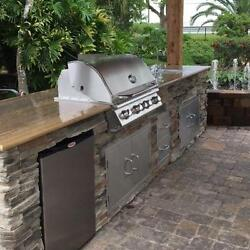Bull Outdoor Full Kitchen Ready Grill Refrigerator Doors Drawers Gas Burner Ice