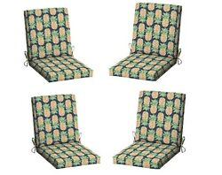 Tropical Patio Dining Cushion Set 4 Outdoor Chair Cushions Replacement Pads