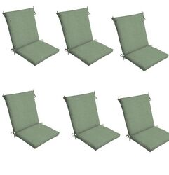 Green  Chair Cushion Set of 6 Outdoor Patio Dining Replacement Cushions Seat Pad