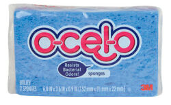 NEW! O-CEL-O Cellulose Sponges Assorted Colors 6