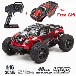 REMO 1 16 RC Monster Truck 2.4Ghz 4WD Off Road Brushed Remote Control Car Red $66.98