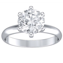 1.10 ct round cut 14K white gold diamond engagement ring H SI1 CERTIFIED