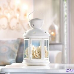 10 White Colonial Style Candle Lanterns Wedding Tabletop Centerpieces