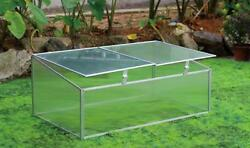 Grow Wise DIY Cold Frame Mini Greenhouse Kit with Double Doors