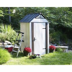 4' x 4' Designer Series Metro Backyard Steel 113 Cubic Feet Storage Shed DSM44