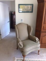 Winged back chairs (PAIR)