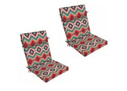 South Western Replacement Patio Cushion Set of 2 Outdoor Yard Dining Seat Chair
