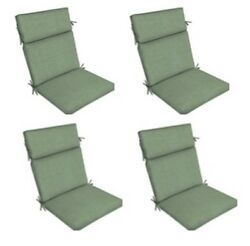 Jade Green Replacement Patio Cushion Set of 4 Yard Dining Seat Chair Pads