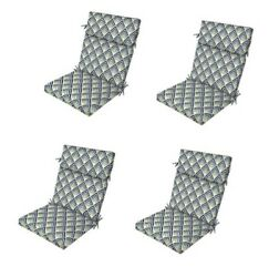 Diamond Blue Replacement Patio Chair Cushion Set of 4 Outdoor Furniture Dining