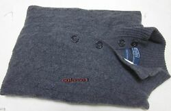 $450 POLO RALPH LAUREN 100% cashmere Italian Yarn  SWEATER 2XL XXL Gray
