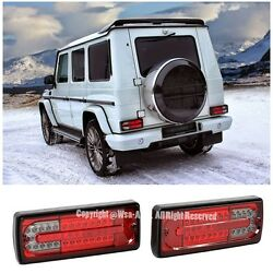 For 02-06 Mercedes G-Class W463 Rear Bumper LED Tail Light Lamp Red Smoke Lens
