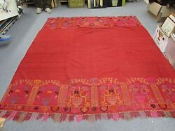 Antique Moroccan Textile Hand Embroidery Wool Suzani Woven 76