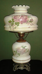 ANTIQUE LAMP ROSES FLOWERS DESIGN $149.00