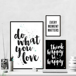 Inspirational Quote Wall Art Canvas Posters Abstract Prints Modern Home Decor $7.19