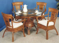 Rattan Man Indoor Wicker Dining Set w42