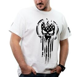 American Warrior Flag Skull Military Men's T-Shirt  $16.99