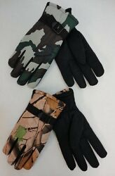 Lot of 144 Pairs Mens Hardwood Army Camo Camouflage Winter Snow Ski Gloves