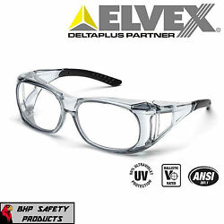 ELVEX SG 37C OVR SPECS II SHOOTING SAFETY OVER THE SPECTACLE GLASSES ANSI Z87.1 $7.25