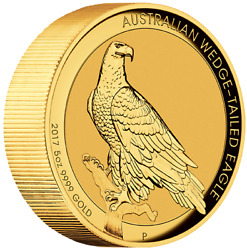 AUSTRALIAN WEDGE-TAILED EAGLE 2017 5oz GOLD HIGH RELIEF COIN