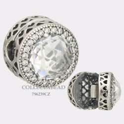 Authentic Pandora Sterling Silver Radiant Hearts Clip Clear CZ 796239CZ