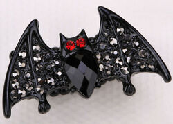 Black Bat stretch ring fit finger size 7 to 9 jewelry gift for women daughters