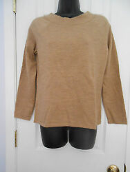 Charter Club Sweater Wool Blend Tan Mock Neck Sweater Size M Good used condition