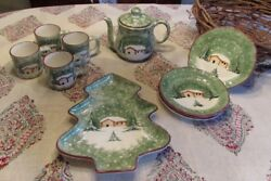 Macy's The Cellar Log Cabin Dinnerware Pottery China
