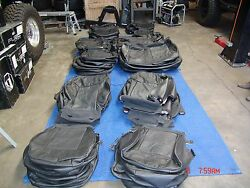 HUMMER H2 SUV  FACTORY OEM SEAT COVERS BLACK FITS 2008-2009 SUV ONLY