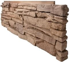 Faux Stone Siding Panel Pack 8 Natural Stacked Stone Project Corner