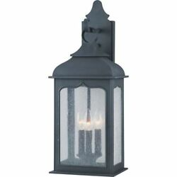 Troy Lighting B2012 Colonial Iron Incandescent Henry Street 3 Light Outdoor