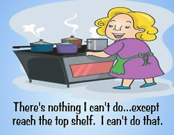 METAL FRIDGE MAGNET Nothing Cant Do Reach Top Shelf Family Friend Humor Funny $4.59