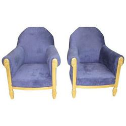 French Art Deco Pair of Armchair Giltwood by Paul Follot circa 1920s