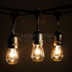 E26 Commercial String Lights with Suspender A15 and S14 Incandescent Bulbs