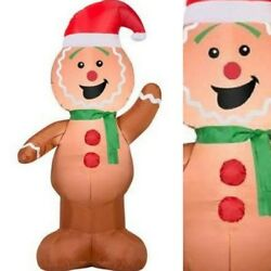 Home Decor Inflatable Gingerbread Man Decorations Indoor Outdoor Christmas Party