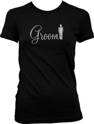 Groom Silver Wedding Marriage Love Fun Party Juniors T shirt $22.95