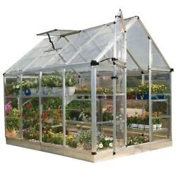 Greenhouse Palram Kit Mini Small Cottage Shade Starter Clear Garden House 6 x 8