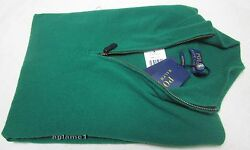 $425 POLO RALPH LAUREN 100% cashmere Italian Yarn  half zip SWEATER M  Green