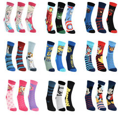 Official Childrens Characters Novelty Boys amp; Girls Soft Touch 3 Pairs Socks Pack GBP 4.45