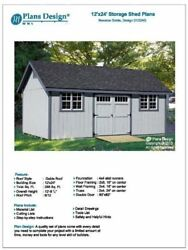 How To Build Guide 12' x 24' Shed Plans Material List Included Design #D1224G