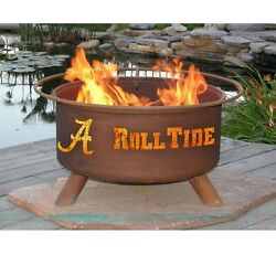 Alabama Fire Pit Backyard Patio Burning Bowl Fireplace Beach Camping Portable