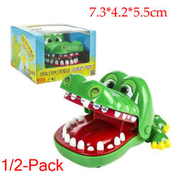 12 Funny Big Crocodile Mouth Dentist Bite Finger Toy Family Game For Kids Xmas