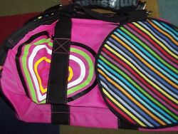 NWT PINK Little Missmatched Duffle Gym Overnight Bag {Miss Matched} School Bag