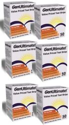 GenUltimate Glucose Test strips 6 pack of 50 [300 strips] EXP IN NOV. OF 2019