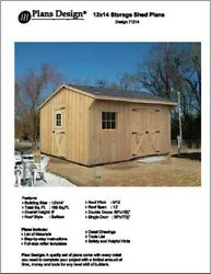 12' X 14' Saltbox Style Storage Shed Project Plans - Design # 71214