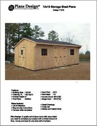 12' X 18' Saltbox Style Storage Shed Project Plans - Design # 71218