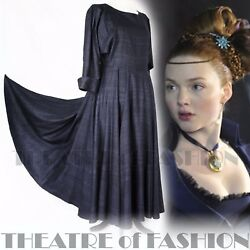 VINTAGE DROOPY AND BROWN SILK DRESS WEDDING 14 16 18 VICTORIAN VAMP 40s 50s RARE