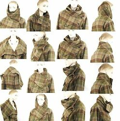 $4498 Ralph Lauren sz 6 CASHMERE SILK BLACK Label Plaid Jacket Coat Women Lady