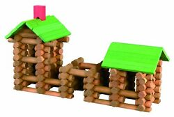 Tumble Tree Timbers Wood Building Set – 150 Pieces. Build Log Cabins. STEM Toy